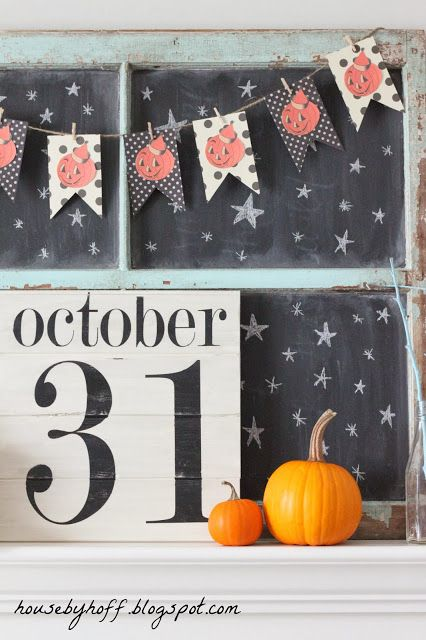 A DIY Halloween Mantel DIY Halloween, Mantels and Halloween banner