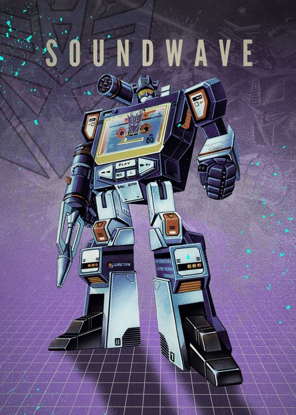 "Transformers Decepticons Soundwave #Displate explore Pinterest""> #Displate artwork by artist ""Rykker o7"". Part of… 