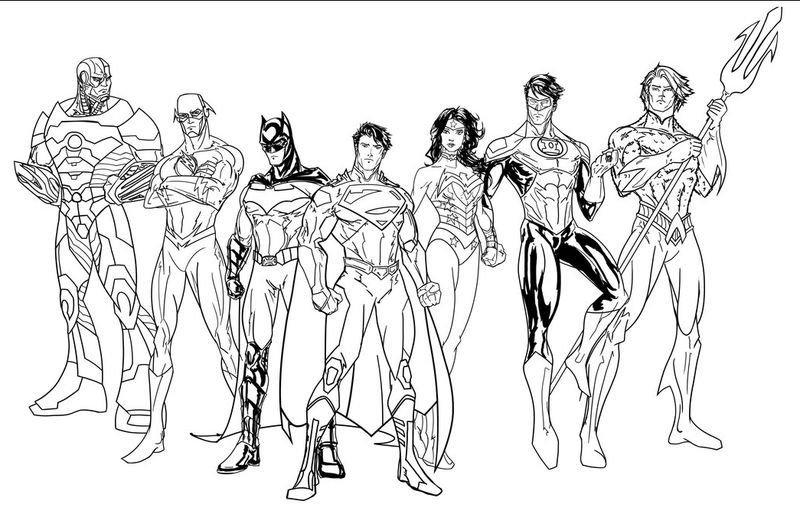 Justice League Colouring In Pages