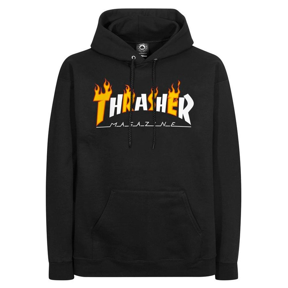 e1dab039926 Thrasher Flame Logo Forest Green Hoodie in 2019