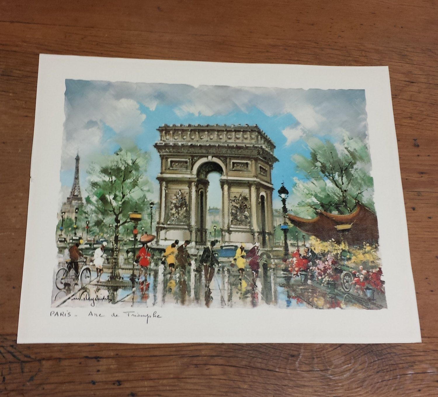 Paris Arc De Triomphe By Maurice Legendre Colored