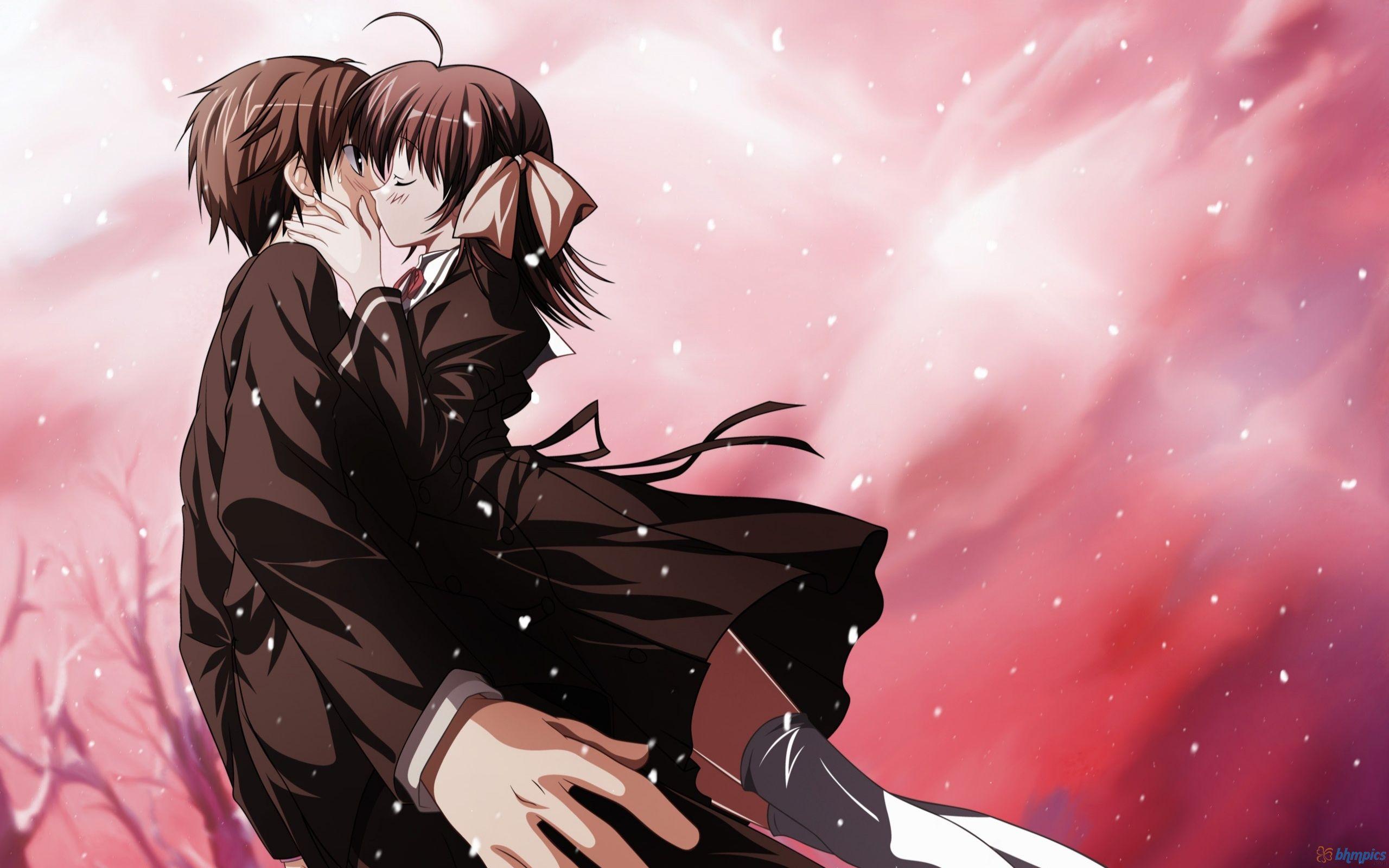 Anime Kiss Of Love Wallpapers 2560x1600 629617 Romantic Anime Anime Kiss Best Romance Anime