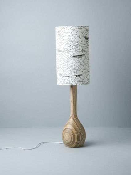 Hills Of Home Hand Turned Lamp By Workroom