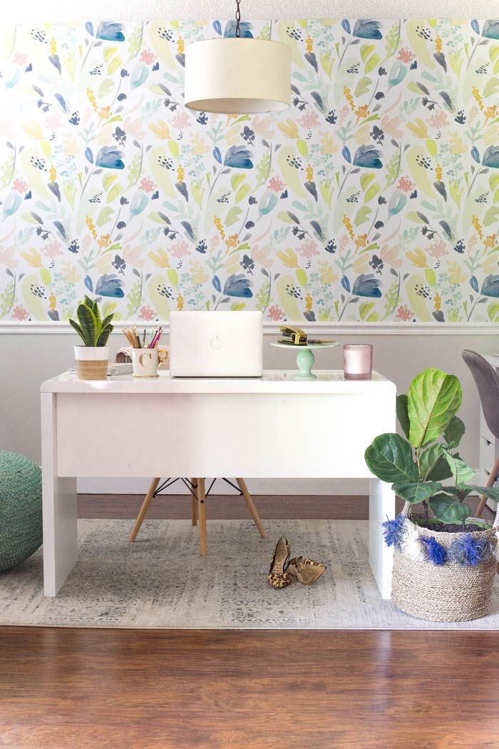Light and Bright Home Office Reveal - Budget Decorating Tips for a