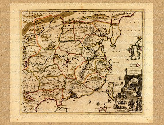 Map Of China From The 1700s 189 Ancient Old World Map Sailing - copy hong kong world map asia