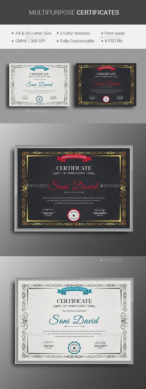 Multipurpose Certificate | Zertifikat