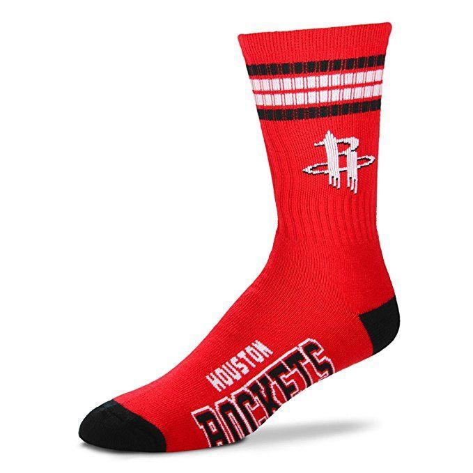new concept 86504 e7687 Amazon.com: For Bare Feet NBA 4 Stripe Deuce Crew Men Socks ...