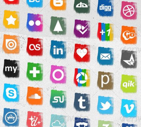 This unique set of 48 social media icons includes 4 different sizes for you to choose from.