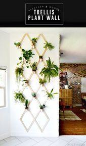 Photo of DIY tre og lær spalis plantevegg – DIY hageprosjekt … # hageprosjekt …