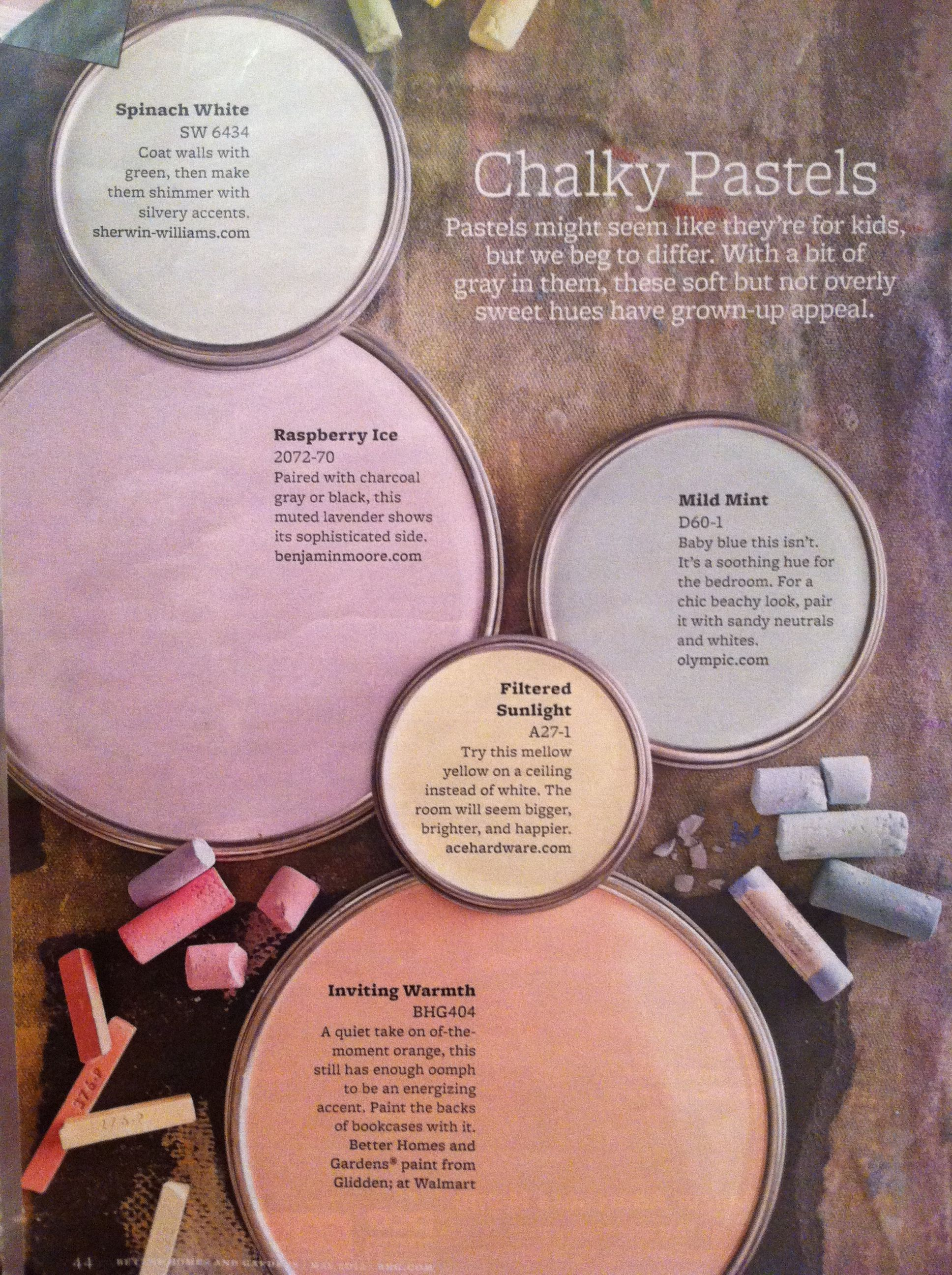 Chalky Pastels Paint Shades Paint Colors For Home Room Colors