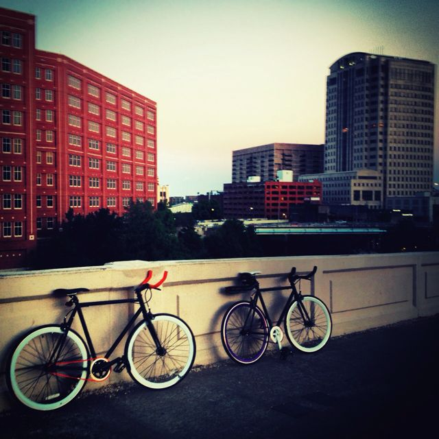 Main St, Houston, TX: Out enjoying a few of H-Town's awesome bike paths and beautiful views.