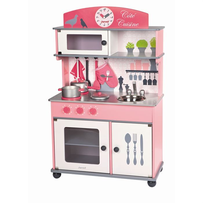 janod cuisine en bois rose c t cuisine 39 39 pinterest achat vente dinette et achat. Black Bedroom Furniture Sets. Home Design Ideas