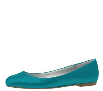 OOOOH Caymen Blue flats from Payless...from their dyeable collection, only $29.99 and come up to a 12! Just add hotfix rhinestones and perfect wedding shoes!