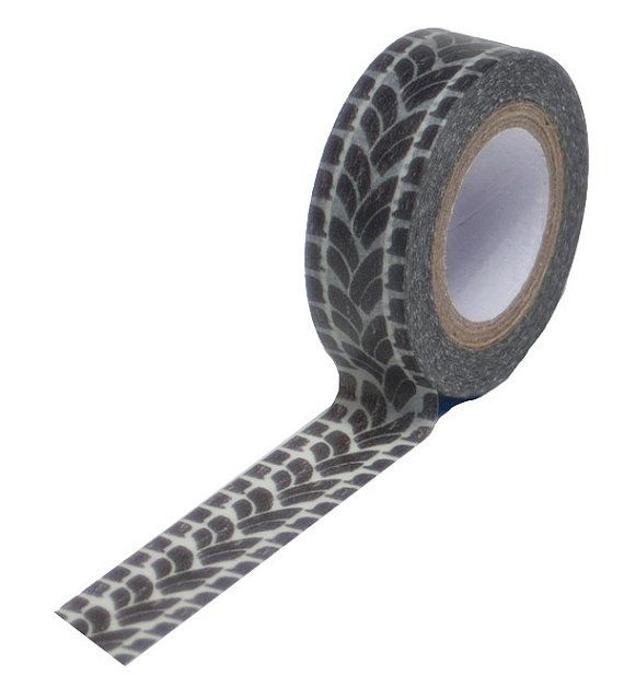 Washi Tape Trendy Tape Treads Tire Tracks Decorative Trendy Paper ...