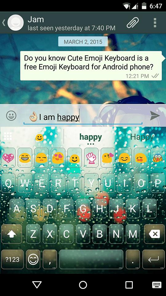 Rain Love Emoji Keyboard Theme Emoji Keyboard Com Emoji Keyboard Cute Emoji Keyboard Android Keyboard