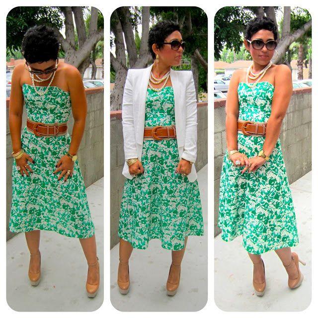 MimiG: DIY Floral Print Dress   Zara Blazer