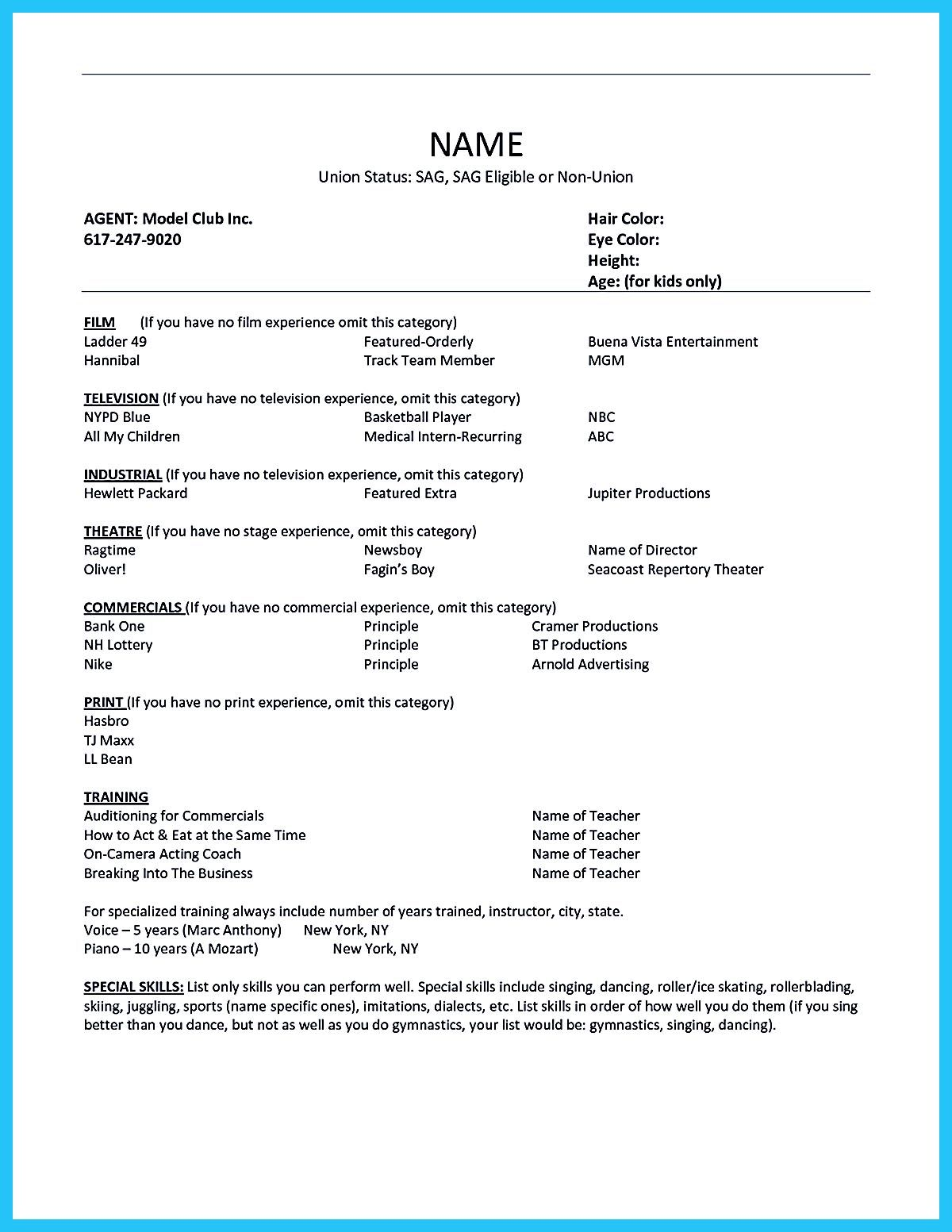 Skills & Abilities For Resume Best Acting Resume Sample Presents Your Skills And Strengths In Details .