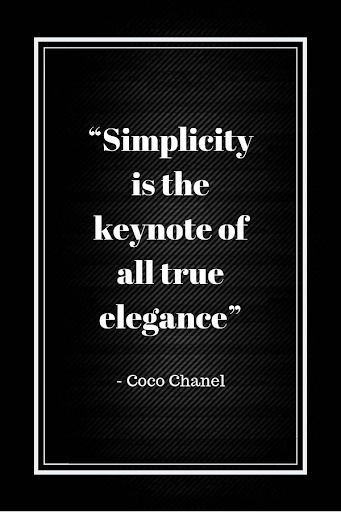 """Top Inspirational Marketing Quotes   Business Marketing   """"Simplicity is the keynote of all true elegance"""" – Coco Chanel Short Quotes"""