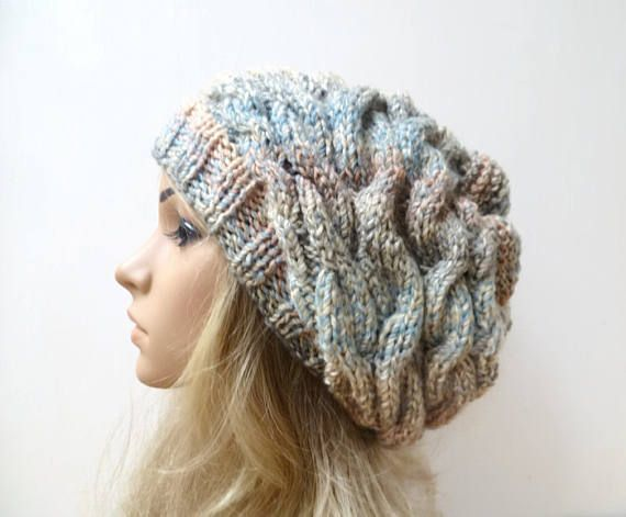 Women Cable Slouchy - Women\'s Hat - Fall Winter Slouch Hat - Cable ...
