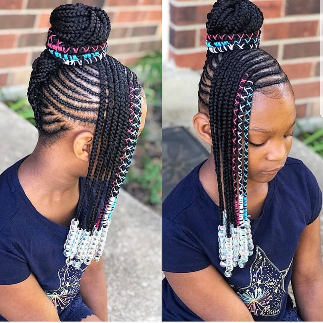 Kids Braids Hairstyles Tybaby333 Follow Kissegirl Hair Skin And Nails Beauty Products Avail Kids Braided Hairstyles Hair Styles Lil Girl Hairstyles