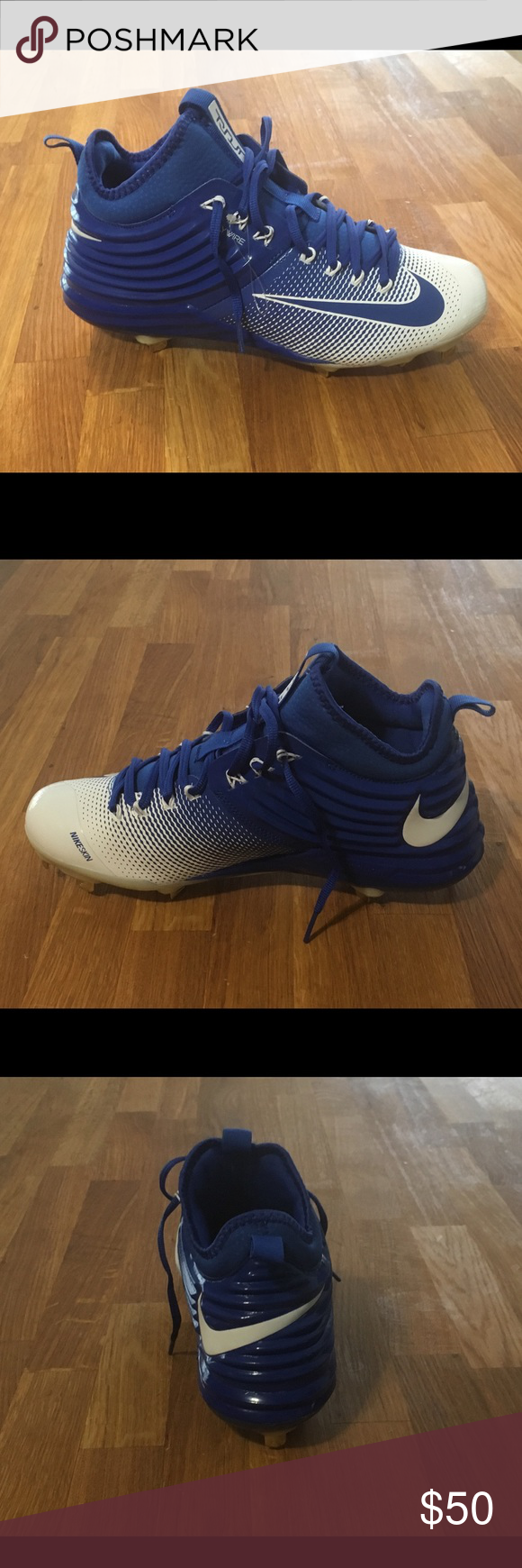 blue and white baseball cleats nike black and white runners