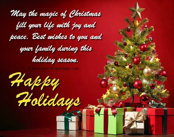 Happy Holiday Wishes Greetings And Messages Christmas