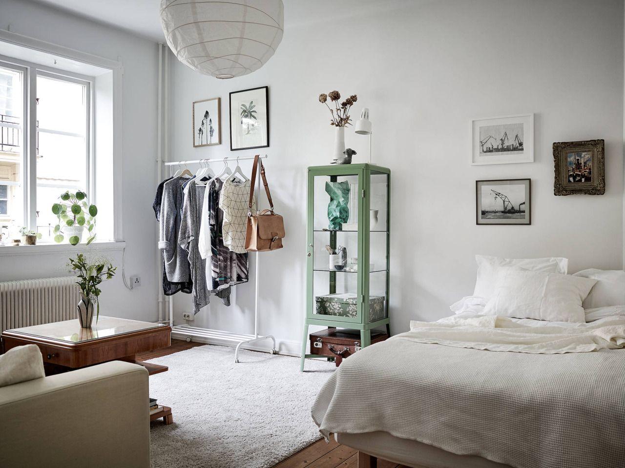 Studio Apartment With Vintage Touch Espacos Pequenos Decorando