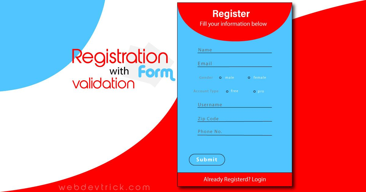 Registration Form with Validation Example and Source Code ...
