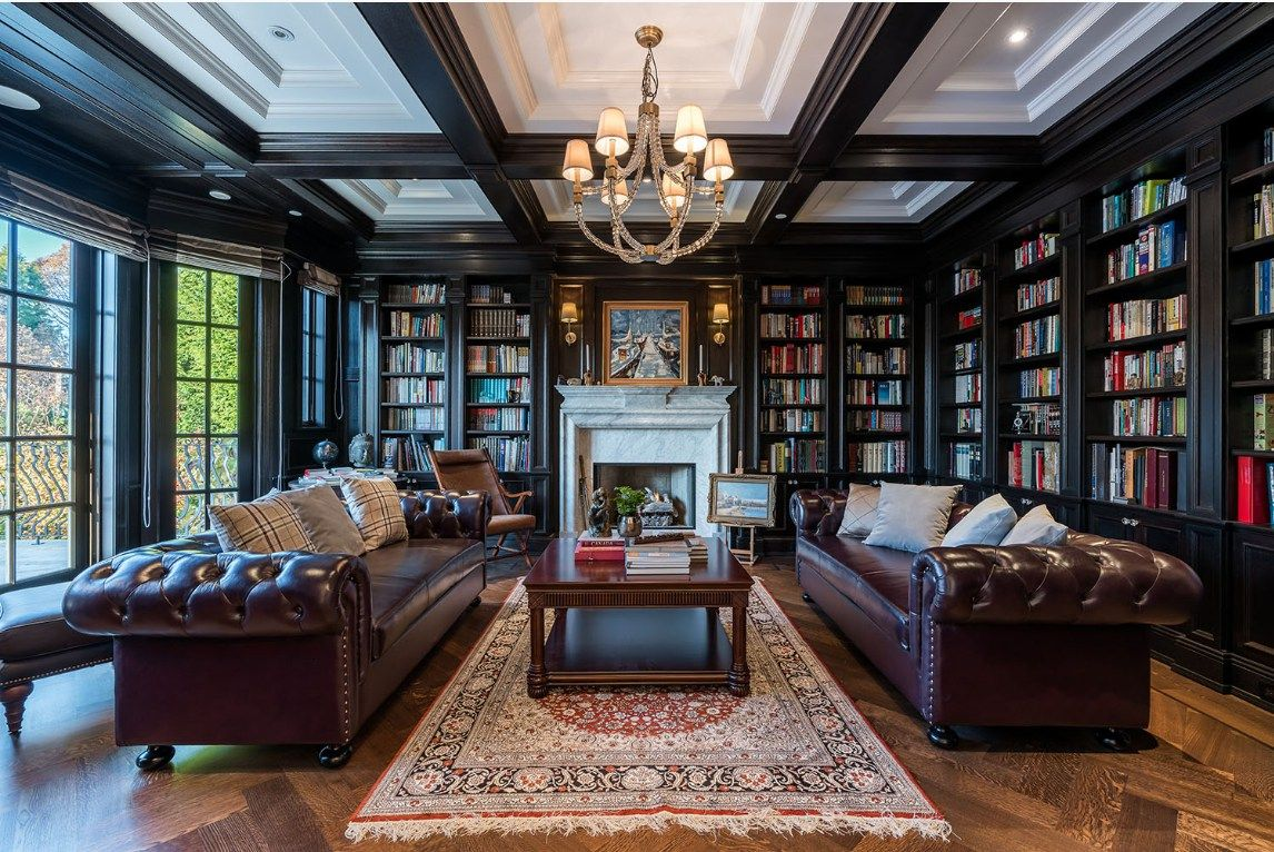 the study in one of british columbia s most expensive homes rh pinterest com