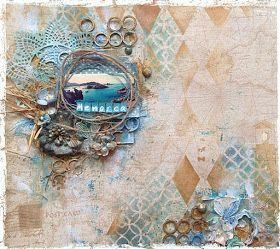 Scrap Around The World: August 2015 Challenge 28 by Jaya Raghuvanshi A Tranquil Traveller's Mood Board