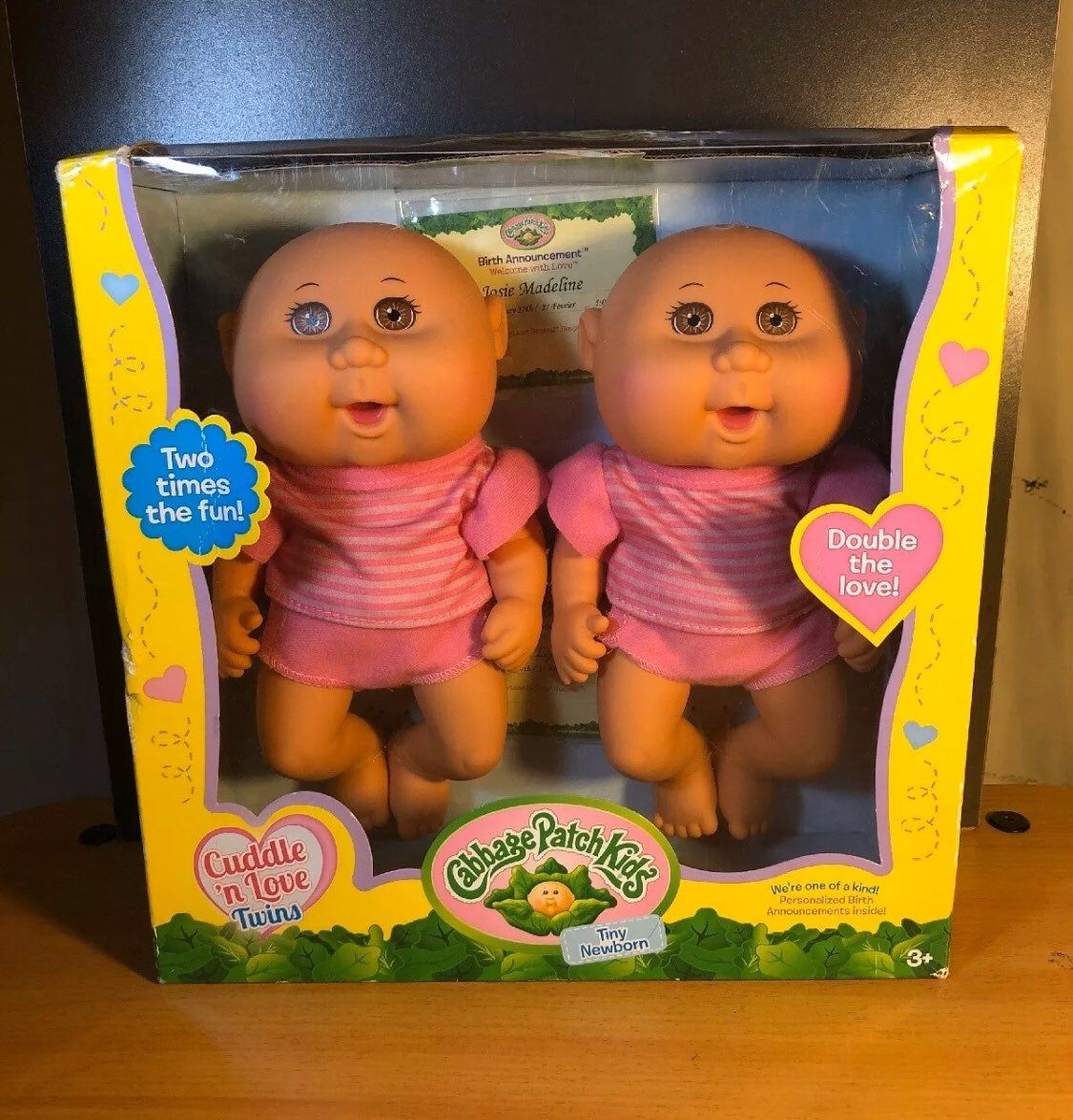 Cabbage Patch Cuddle N Love Tiny Newborn Twins Brown Eyes New Doll Baby Scuffs On Packaging See Photo Cabbage Patch Kids Dolls Cabbage Patch Kids Newborn
