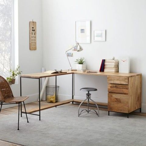 Rustic Modular Desk Set West Elm Amazing