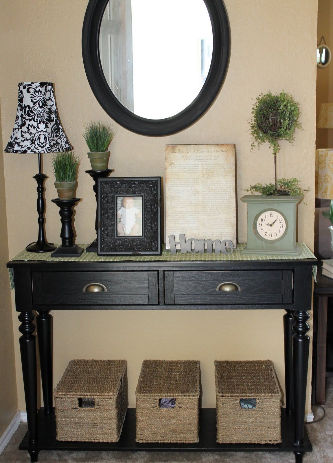 Foyer Table With Storage aentryway2 1,151×1,600 pixeles | estilo para seguir , lindo