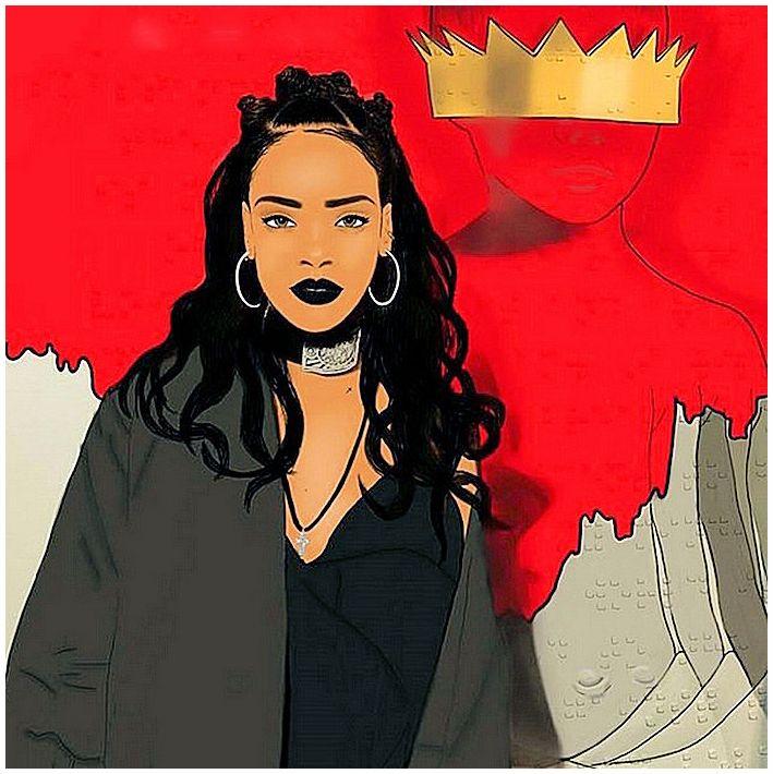 Rihanna Drawing Aʀt Pinterest Rihanna, Drawings and
