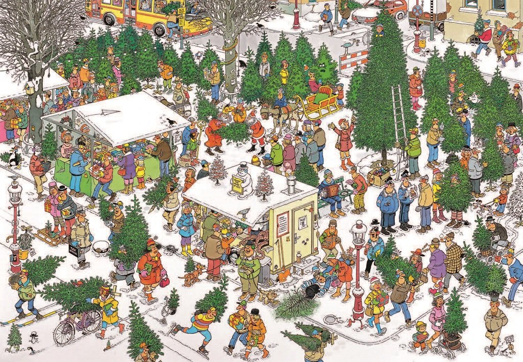 Christmas Tree Market 2000 Piece Puzzle in 2018 Products
