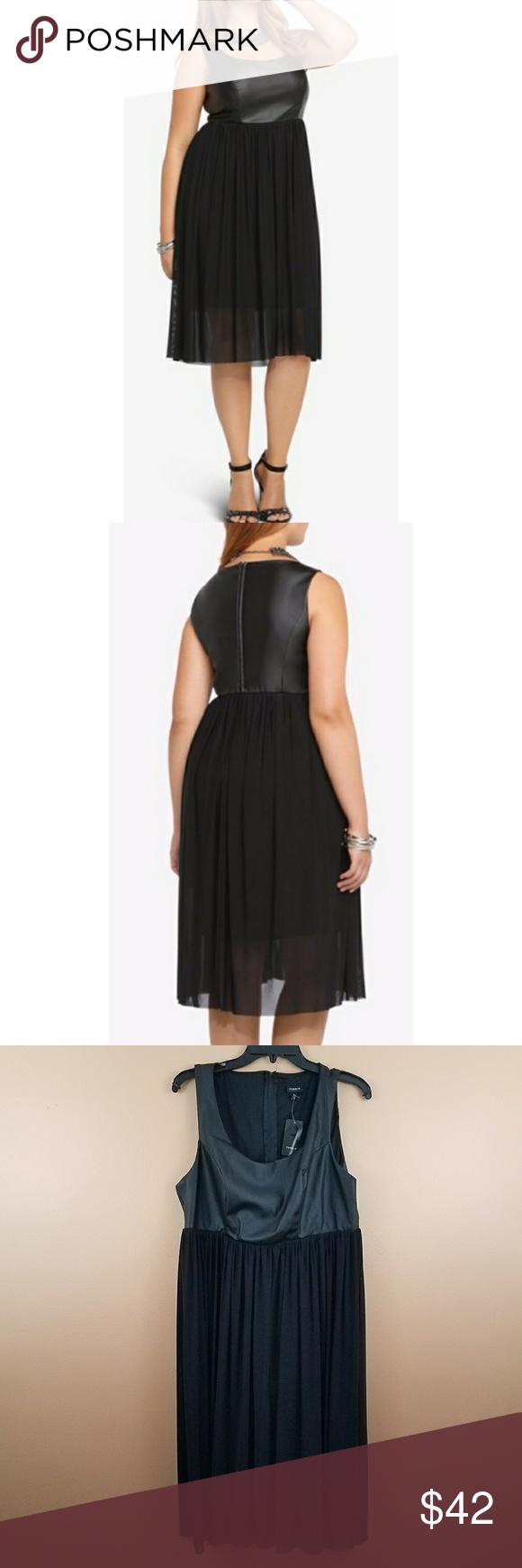 Torrid Faux Leather Ponte Mesh Dress Mesh Dress Torrid Dresses Clothes Design [ 1740 x 580 Pixel ]