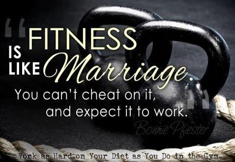 Fitness Is Like Marriage Workout Citater Sundhed Traening