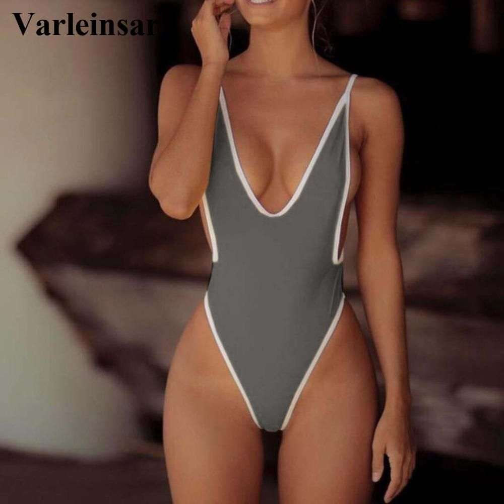 Women Solid Bodysuit One-Piece,Girl Hight Neck Swimming Costume Padded Bikini Monokini Swimsuit Swimwear
