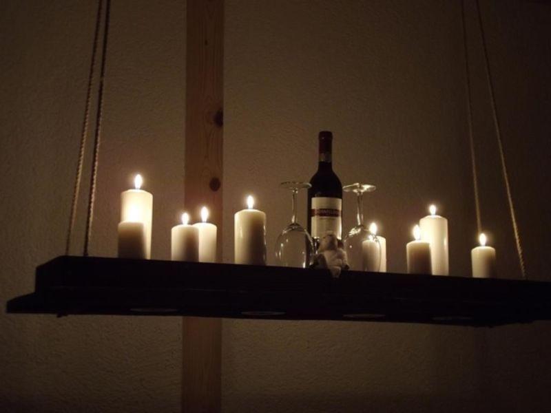 Kerzen auf holzbrett lampen und leuchten pinterest deckenlampe