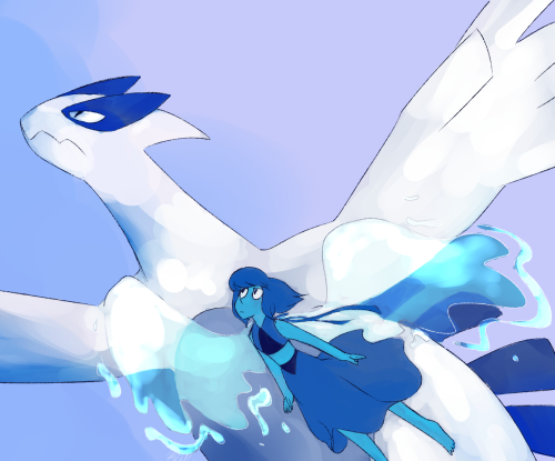 lapis and lugia I'm not sure if I should pin this to Steven universe, or Pokémon