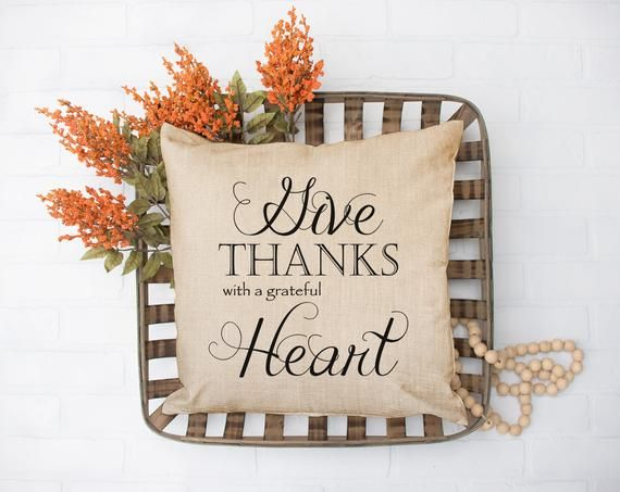 Give Thanks, Fall Decor, Fall Pillow, Fall Pillows, Give Thanks Pillow, Fall Decorations, Autumn Decor, Thanksgiving decor, rustic decor