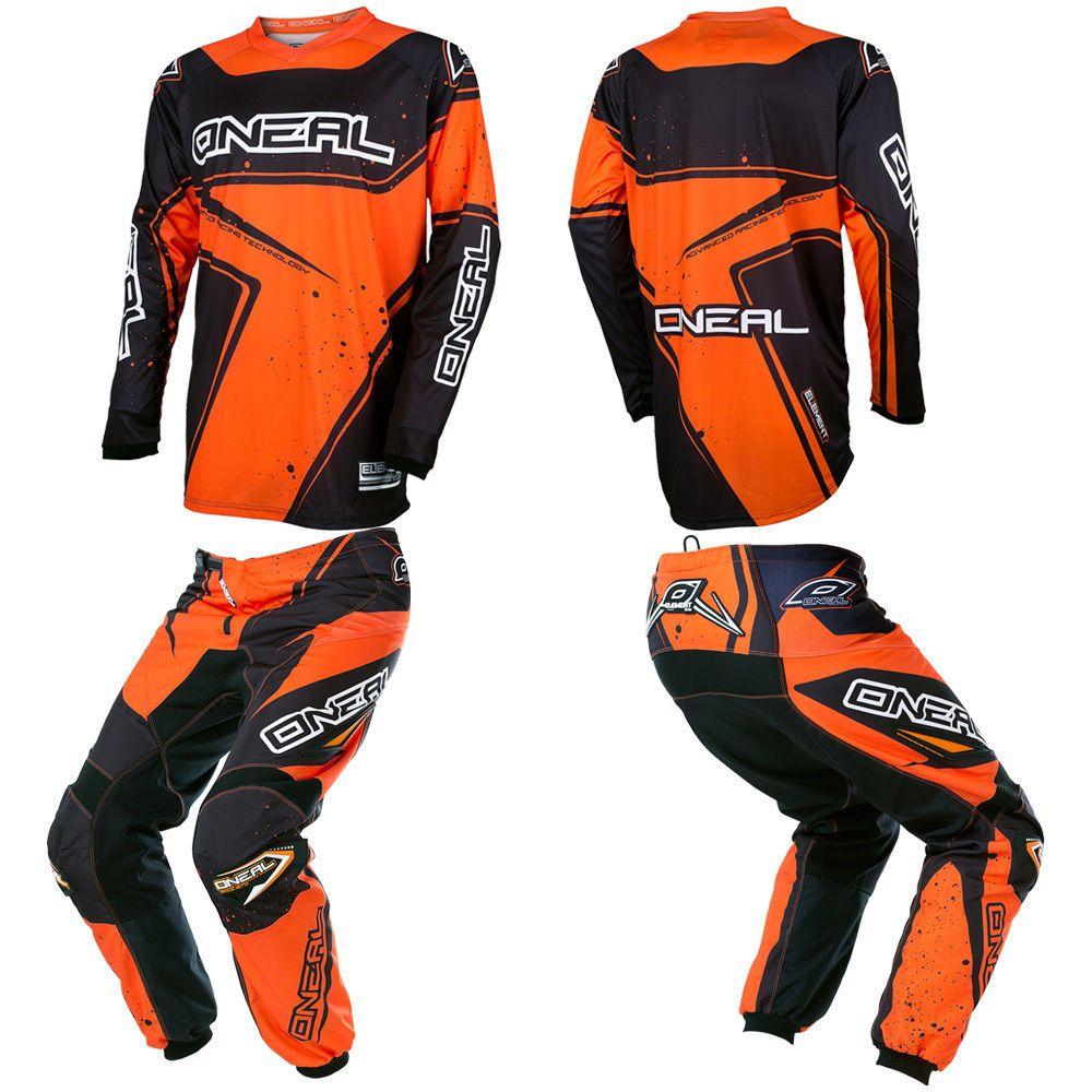 O Neal Element Orange Motocross Off Road Dirtbike Gear Jersey
