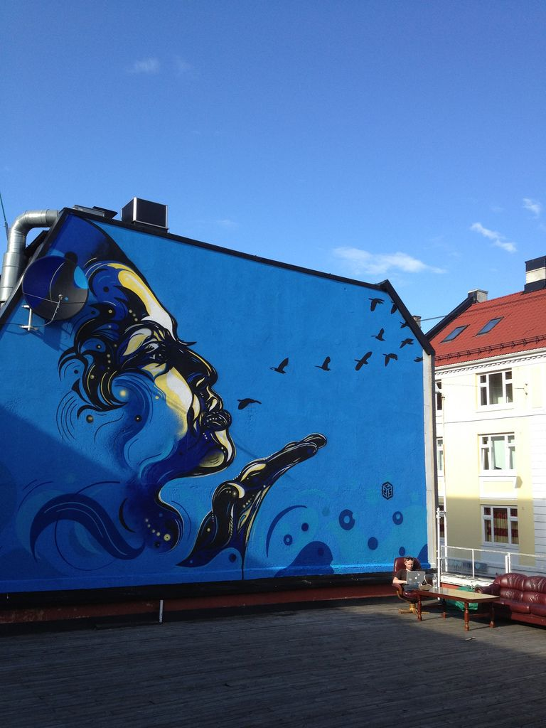 'Volare' Street Art in Oslo by C215