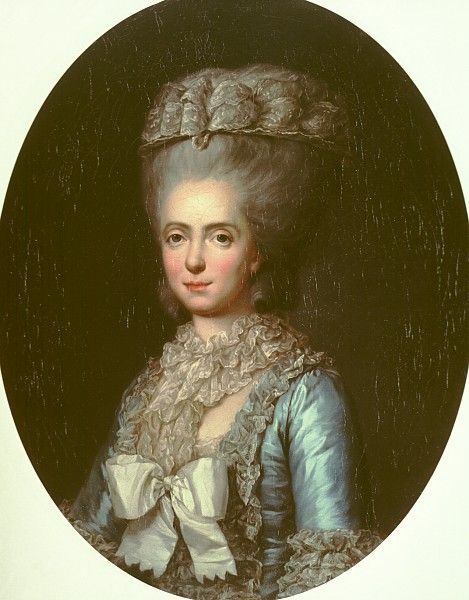 Portrait of Marie Adélaïde of France, daughter of Louis XV, known as Madame Adelaide by Anne Vallayer-Coster (1780)