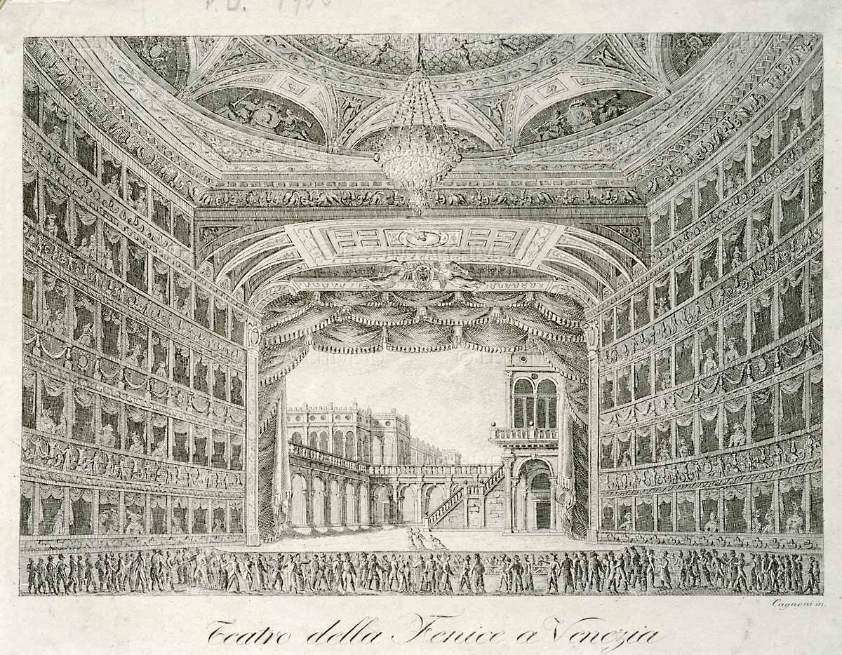 Print Interior Of Teatro La Fenice In Venice Engraving 18th
