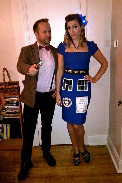 The Doctor and the TARDIS by SamMaggs on Flickr.
