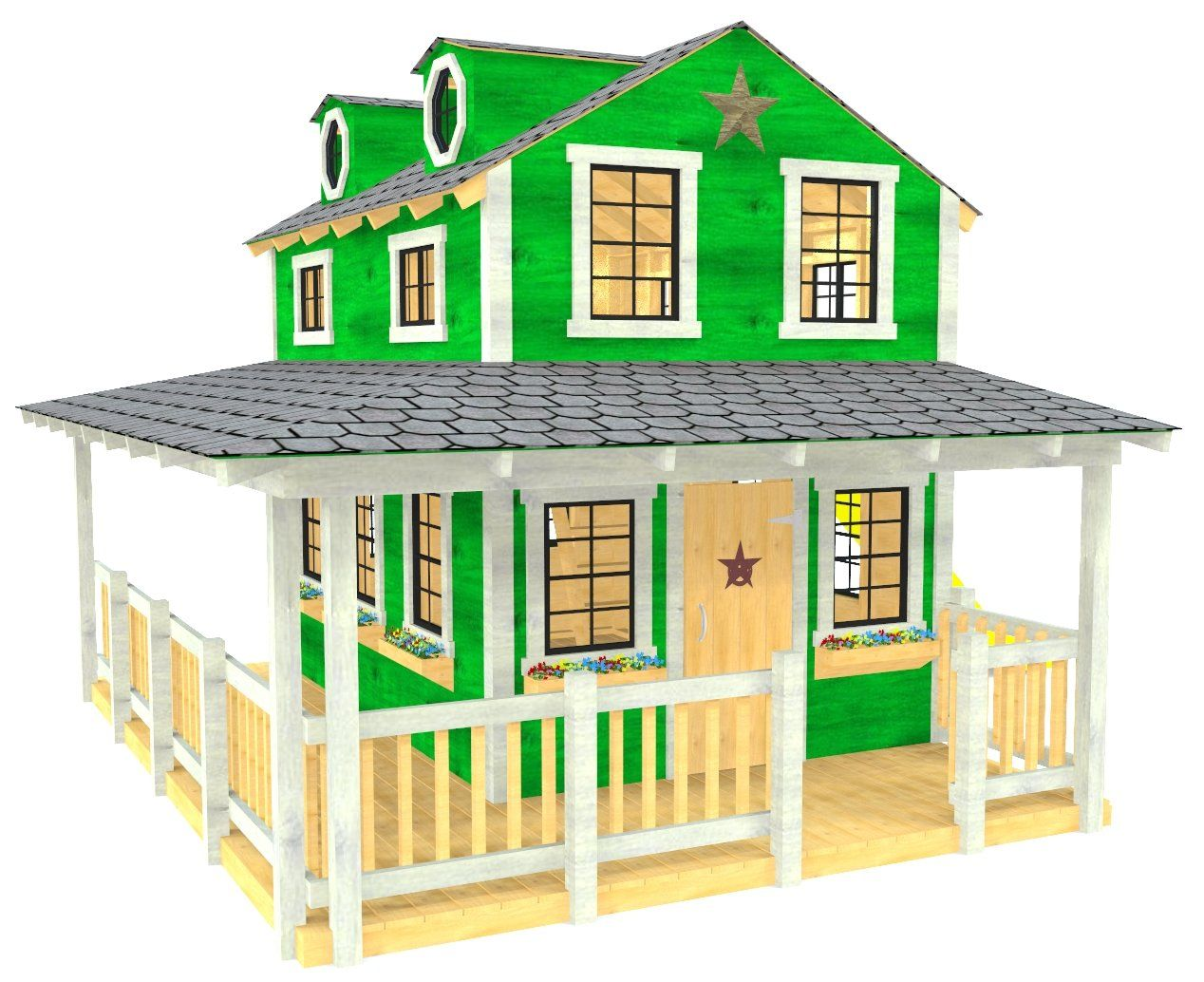 Country Cottage Playhouse Plan Play Houses House With Porch Build A Playhouse