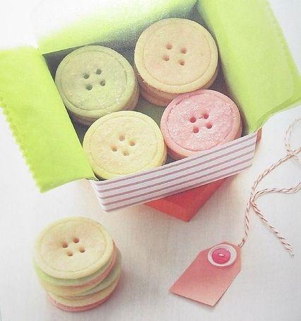 Button Sugar Cookies HOW CUTE!!!
