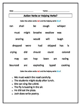 Free Printable Linking Verbs Worksheet - Learning How to Read