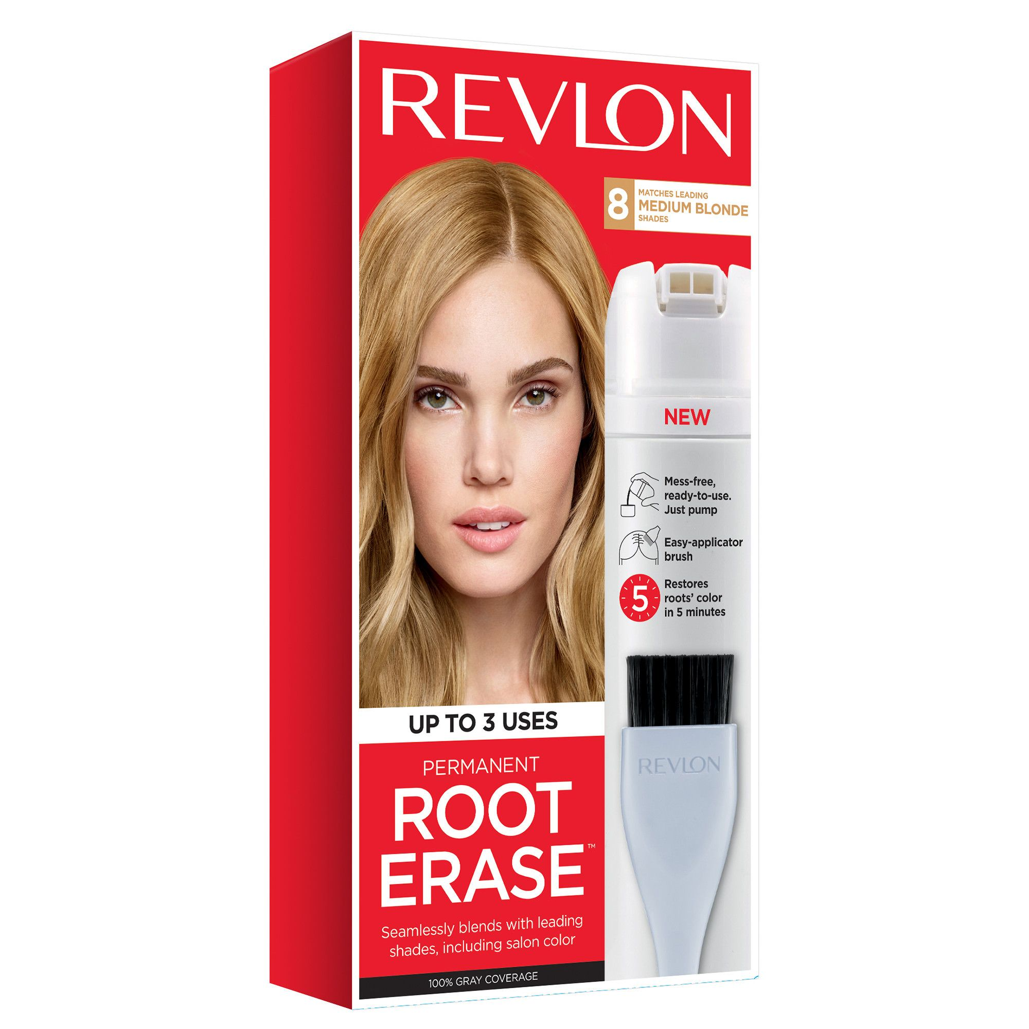 Revlon Root Erase Hair Color Medium Brown With Images Root